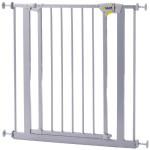 Hauck 597101 - Türschutzgitter Trigger Lock Safety Gate, silber, 75-81cm, Verlängerung separat erhältlich